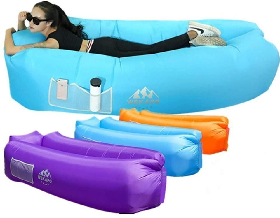 """<p>They'll love chillin' on this <a href=""""https://www.popsugar.com/buy/Wekapo-Inflatable-Lounger-Air-Sofa-Hammock-569762?p_name=Wekapo%20Inflatable%20Lounger%20Air%20Sofa%20Hammock&retailer=amazon.com&pid=569762&price=46&evar1=moms%3Aus&evar9=32519221&evar98=https%3A%2F%2Fwww.popsugar.com%2Ffamily%2Fphoto-gallery%2F32519221%2Fimage%2F47434764%2FWekapo-Inflatable-Lounger-Air-Sofa-Hammock&list1=gifts%2Choliday%2Cgift%20guide%2Cgifts%20for%20kids%2Ckid%20shopping%2Ctweens%20and%20teens%2Cgifts%20for%20teens&prop13=api&pdata=1"""" class=""""link rapid-noclick-resp"""" rel=""""nofollow noopener"""" target=""""_blank"""" data-ylk=""""slk:Wekapo Inflatable Lounger Air Sofa Hammock"""">Wekapo Inflatable Lounger Air Sofa Hammock</a> ($46) in the backyard.</p>"""