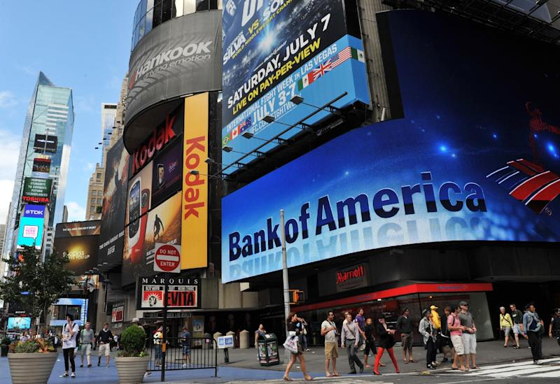 This June 26, 2012 photo shows a Bank of America branch in New York's Times Square (AFP Photo/Stan Honda)