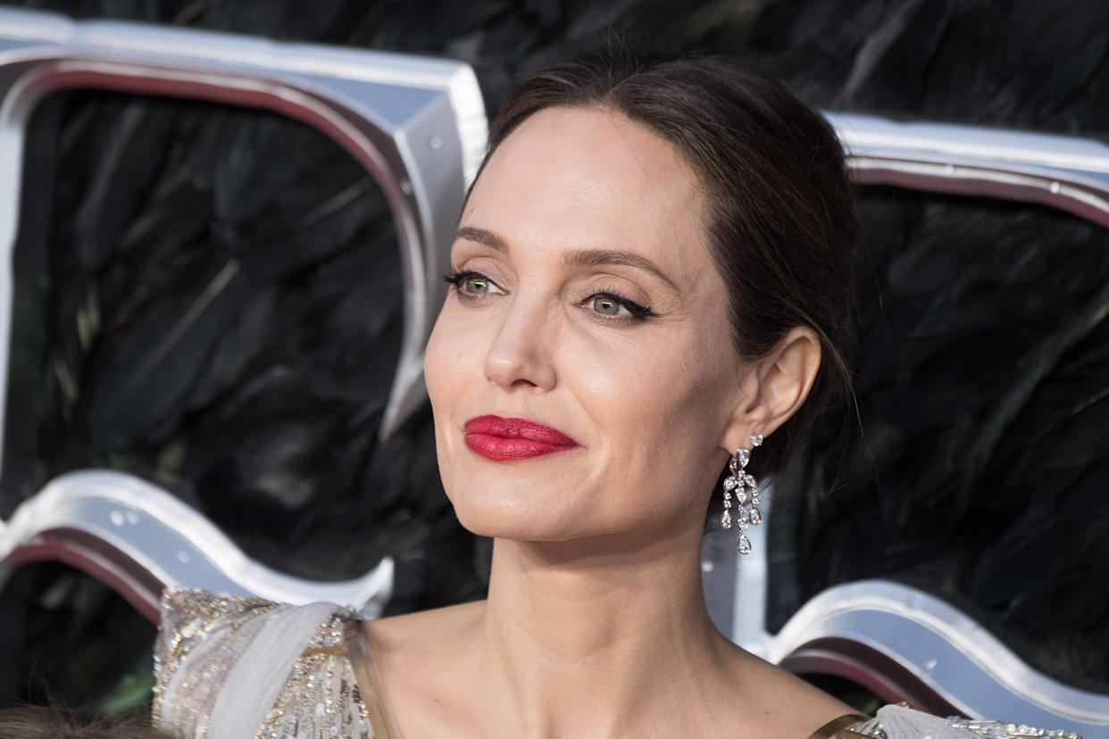 LONDON, ENGLAND - OCTOBER 09: Angelina Jolie attends the European premiere of