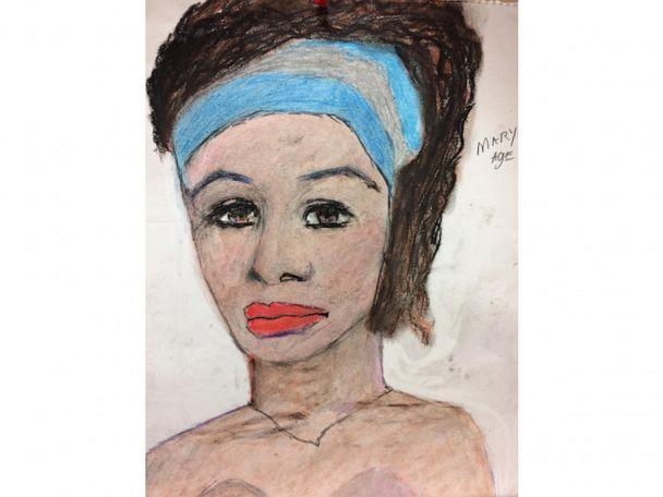 """PHOTO: A sketch drawn by convicted serial killer Samuel Little of one of his victims, known to Little as Marianne or Mary Ann. Little said Marianne was between 5'6"""" - 5'7"""" tall and approximately 140 pounds. (FBI)"""