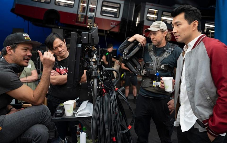"""Shooting of the bus scene in """"Shang-Chi."""""""