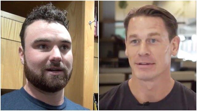 John Cena Happy To Lose Bet To Padres Pitcher He Said Would Never Make Major Leagues