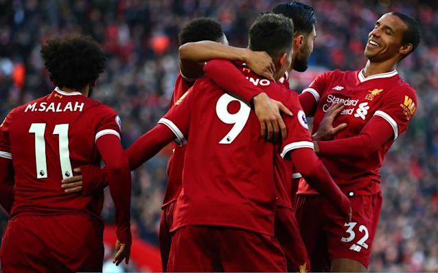 Liverpool celebrate Roberto Firmino's goal - Getty Images Europe