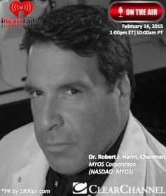 """Chairman Dr. Robert Hariri of MYOS Corporation to Be Interviewed Live on Clear Channel's """"The Trader's Network Show"""""""