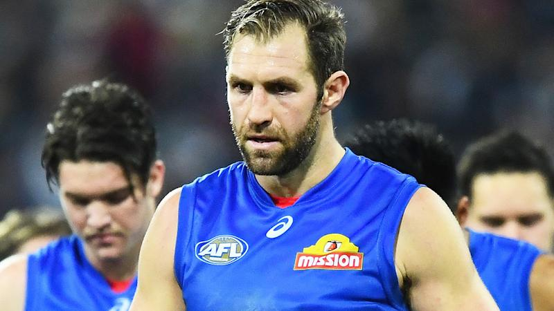 Travis Cloke, pictured here in action with the Western Bulldogs in 2017.