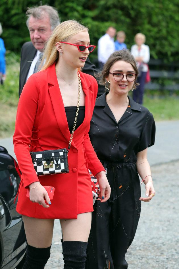 Sophie Turner and Maisie Williams were among those in attendance