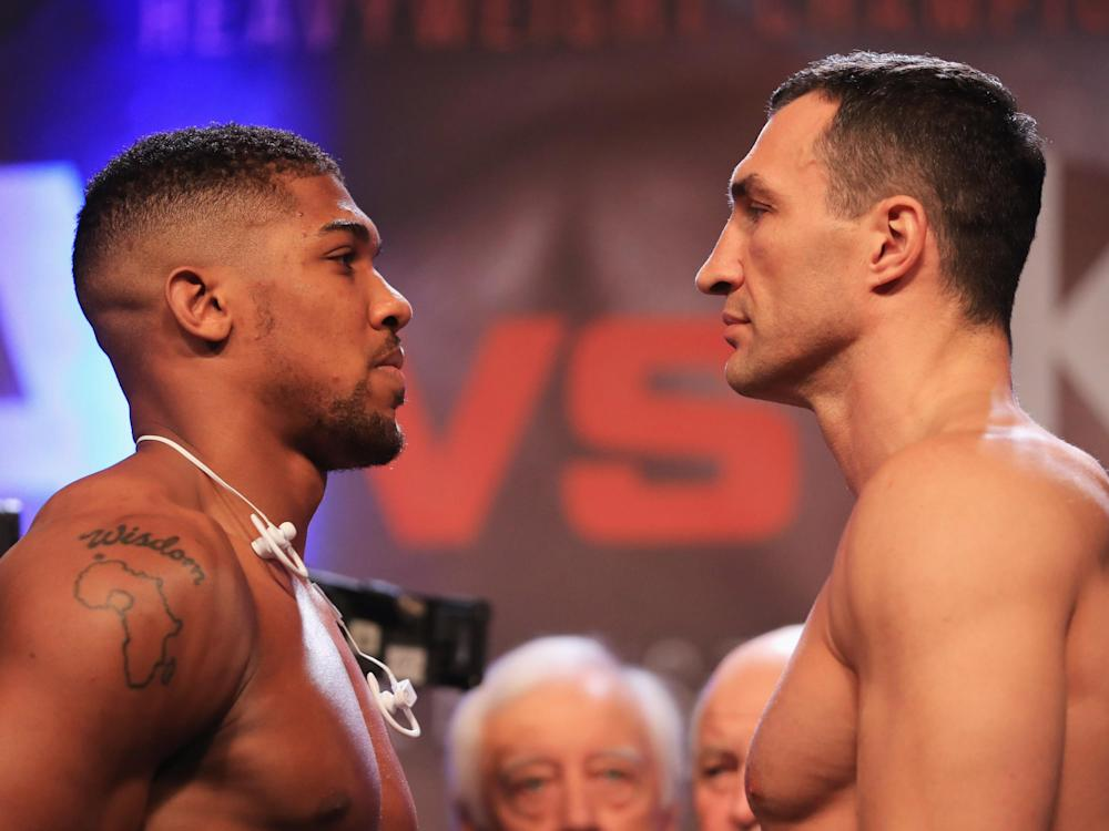It's youth vs experience with Joshua's 18 professional fights to Klitschko's 68: Getty