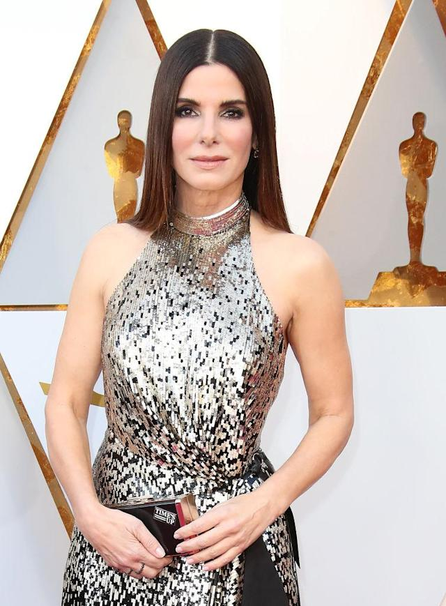 Sandra Bullock appears at the 90th Academy Awards on March 4, 2018. (Photo: Dan MacMedan/WireImage)