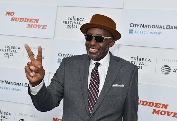 """US actor Bill Duke attends the premiere of """"No Sudden Move"""" during the 2021 Tribeca Festival"""