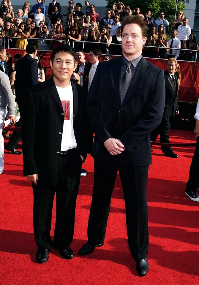 "Jet Li and Brendan Fraser attempted to promote their upcoming flick, ""The Mummy: Tomb of the Dragon Emperor,"" at the awards show. Jeffrey Mayer/<a href=""http://www.wireimage.com"" target=""new"">WireImage.com</a> - July 16, 2008"