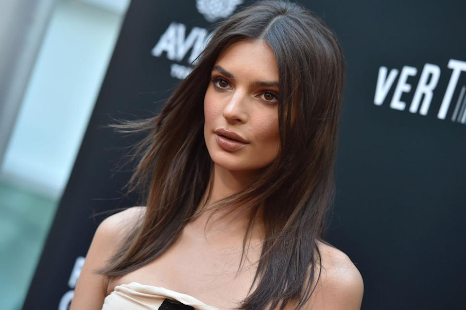 Emily Ratajkowski stepped out wearing one of this season's must-have shoes. (Photo by Axelle/Bauer-Griffin/FilmMagic)
