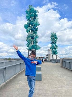 A family trip to Pierce County includes beaches, parks, farms, museums, and the Chihuly Bridge of Glass, shown here.