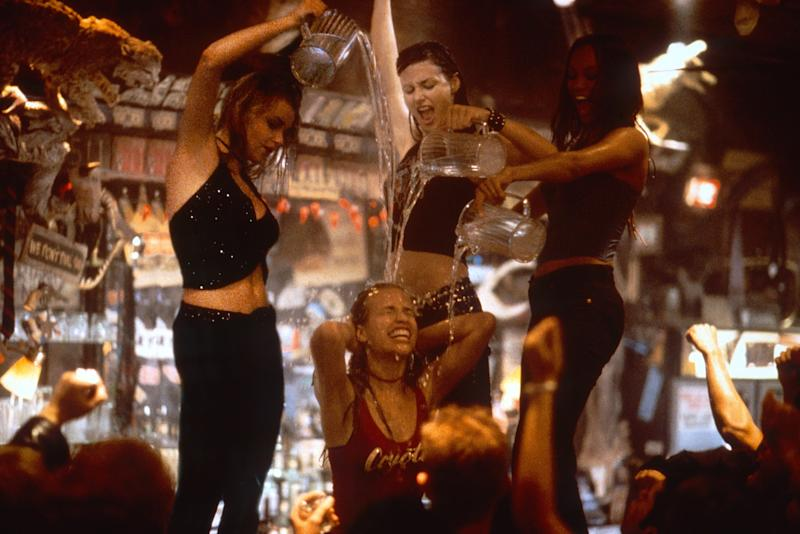 Piper Perabo, Izabella Miko, Bridget Moynahan and Tyra Banks in a scene from 'Coyote Ugly' (Photo: Frank Masi / © Buena Vista Pictures / courtesy Everett Collection)