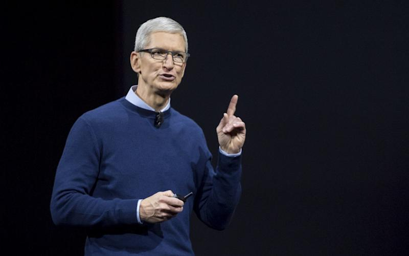 Apple chief executive Tim Cook has said that all employees at the company's Apple Park office will have standing desks. - Bloomberg