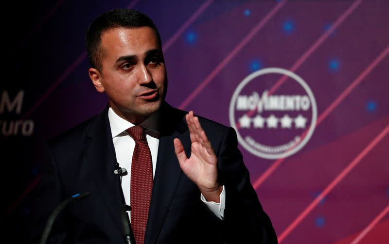 Italy's Foreign Minister Luigi di Maio holds a news conference in Rome