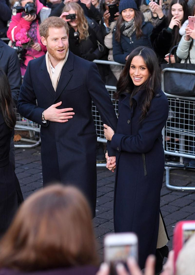 They were seen holding on to one another and walking hand-in-hand. Photo: Getty