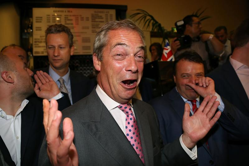 Nigel Farage: The former Ukip leader supported Leave.EU: Geoff Caddick/AFP/Getty