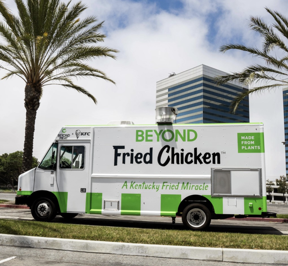 The fast food outlet is the first in the United States to start using Beyond Chicken. Source: Beyond Meat