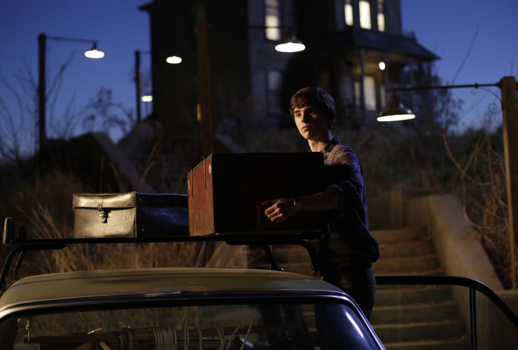 "Norman Bates moves into his new home in A&E's ""Bates Motel"" coming in March 2013."
