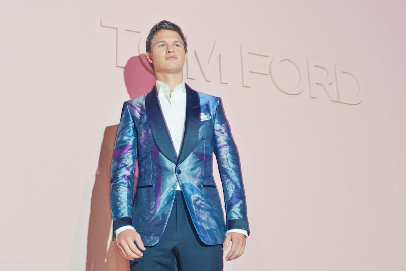 Ansel Elgort attends the Tom Ford Spring 2018 runway show as part of New York Fashion Week.