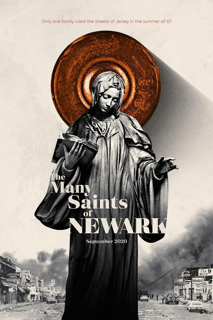 <p><em>Sopranos </em>fans, unite! <em>The Many Saints of Newark </em>finds David Chase, creator of the legendary and beloved HBO mob/family series revisiting younger versions of his characters—including Tony Soprano, Uncle Junior, Paulie Walnuts, and more—in late '60s Newark. This was also the same time as a series of more-relevant-than-ever riots in Newark, so it's really interesting to think about what could come from this very awaited movie. Some particularly inspired casting? James Gandolfini's actual son, Michael, is playing a young Tony Soprano, and Vera Farmiga, who proved her ability to play terrifying mothers in <em>Bates Motel, </em>will play a younger Livia Soprano.</p>