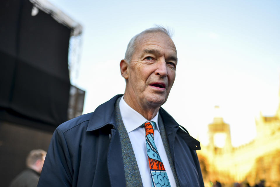 British television presenter John Snow is pictured at the media centre outside the Houses of Parliament London on December 12, 2018. Mrs May said a new prime minister would have to scrap or extend Article 50, the mechanism taking Britain out of the EU on 29 March, 'delaying or even stopping Brexit'. Conservative MPs will vote from 18:00 GMT to 20:00 GMT. A result is expected fairly quickly after the voting finishes.  (Photo by Alberto Pezzali/NurPhoto via Getty Images)