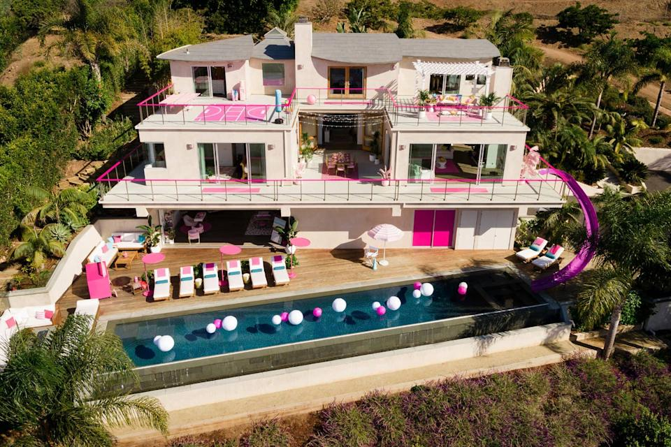 Did you dream of visiting Barbie's house when you were 7? Well, now you can. [Photo: Airbnb]
