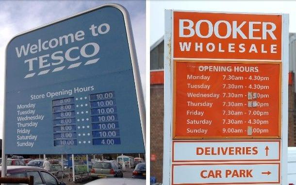 The CMA said Tesco's takeover of Booker 'does not raise competition concerns'
