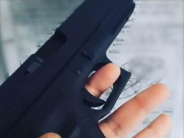 An Instagram video posted by Mohiussunnath Chowdhury showing a replica airsoft Glock pistol: Metropolitan Police