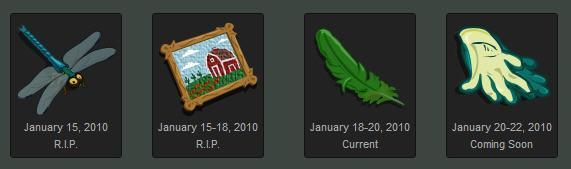 farmville collectable gifting dates