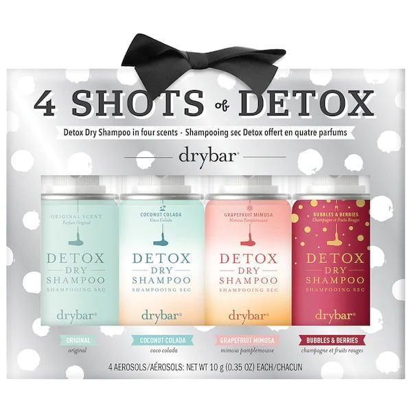 <p>This <span>Drybar Flight of Detox Dry Shampoo Set</span> ($25) makes sure the dry-shampoo-lovers in your life are never without a bottle, no matter where they are.</p>