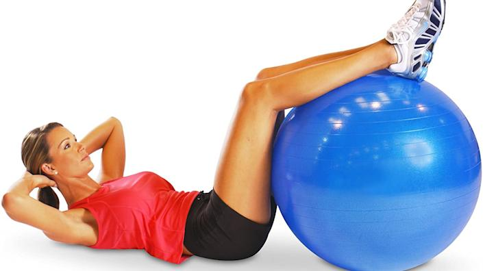 Improve your core with this stability ball, which is on sale now.