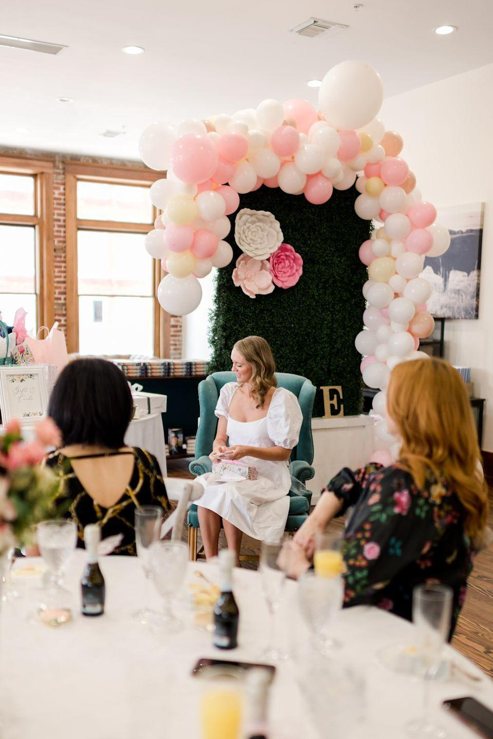 <p>I guess I don't go to wedding showers very often, because I forgot about the part where the bride opens gifts. It reminded me of the 1980's! That was a strange thing to say, haha! (I told you I don't go to wedding showers very often!)</p>