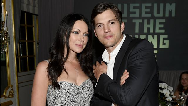 Ashton Kutcher had a slight freak-out over Laura Prepon's engagement on Live!