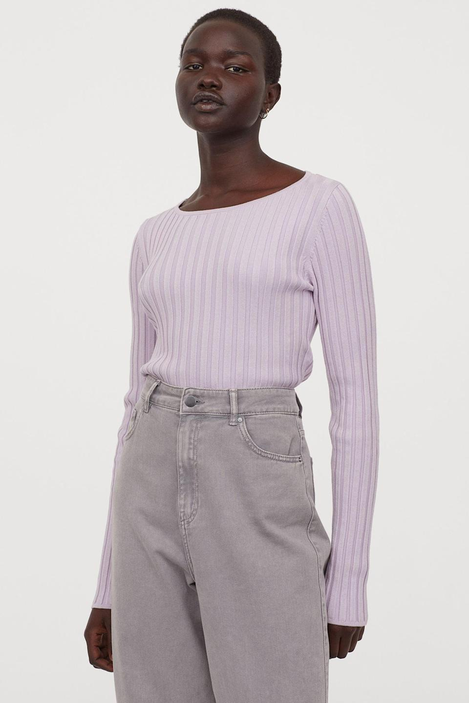 <p>The back details of this <span>Wrapover-back Sweater</span> ($25) are the best part.</p>