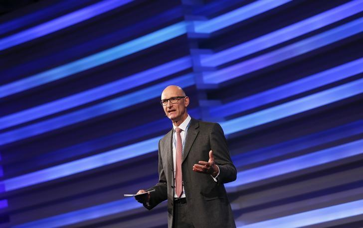 FILE PHOTO - Tim Hoettges, CEO of Germany's telecommunications giant Deutsche Telekom AG addresses the CyberSecurity summit in Bonn
