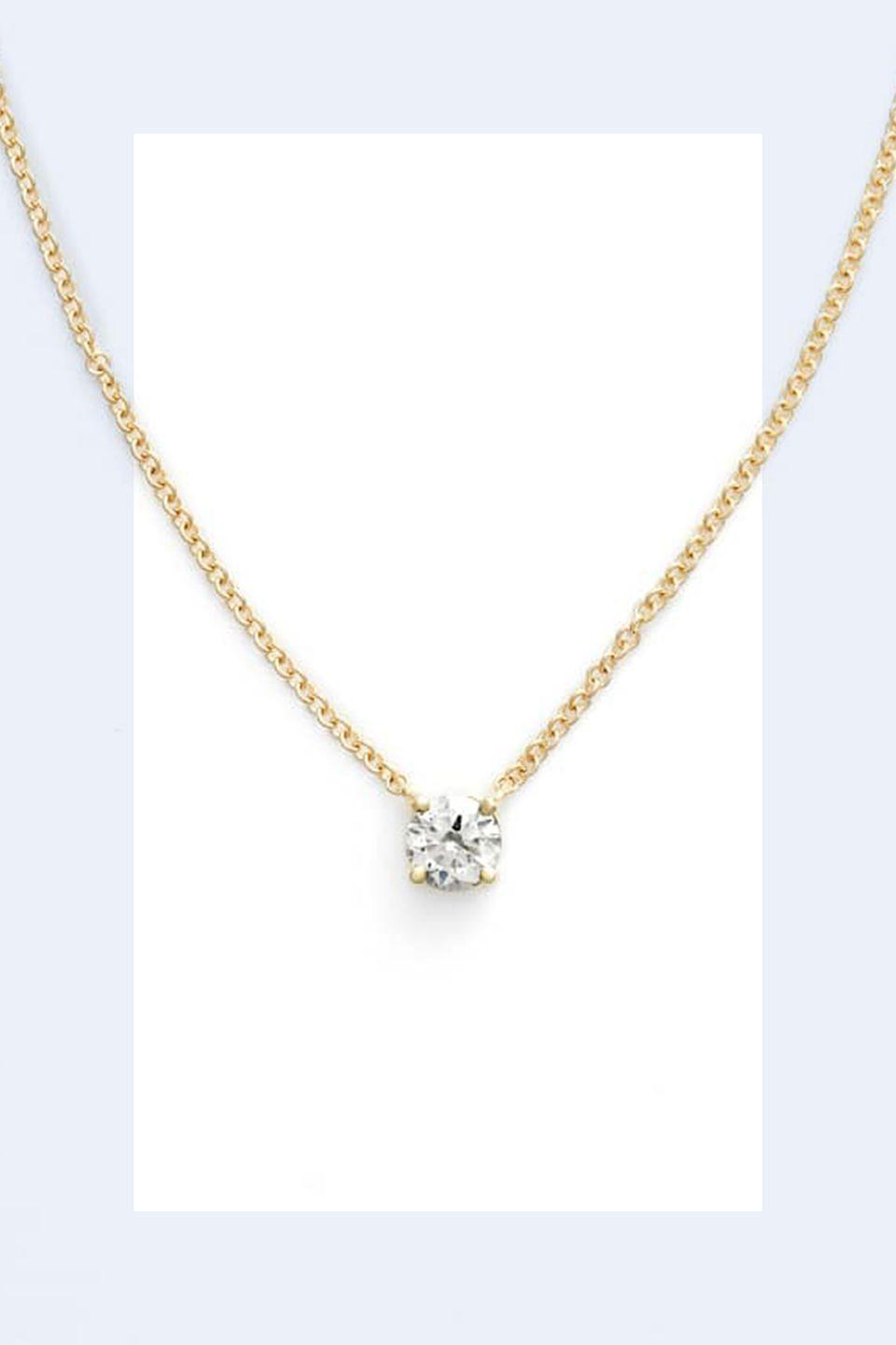 """<p><a rel=""""nofollow noopener"""" href=""""https://shop.nordstrom.com/s/bony-levy-liora-solitaire-diamond-pendant-necklace-nordstrom-exclusive/4797839?origin=coordinating-4797839-0-1-PDP_1-recbot-also_viewed&recs_placement=PDP_1&recs_strategy=also_viewed&recs_source=recbot&recs_page_type=product"""" target=""""_blank"""" data-ylk=""""slk:SHOP NOW"""" class=""""link rapid-noclick-resp"""">SHOP NOW</a> <em>Bony Levy Diamond Necklace, $1,095</em></p><p>""""A lot of women tend to wear big statement necklaces and I think that more often than not it looks unsophisticated and cheap. It can make an outfit pop in the wrong way. It's chicer to err on the side of minimalism."""" -<em><a rel=""""nofollow noopener"""" href=""""http://www.andrewgelwicks.com/"""" target=""""_blank"""" data-ylk=""""slk:Andrew Gelwicks"""" class=""""link rapid-noclick-resp"""">Andrew Gelwicks</a></em></p>"""