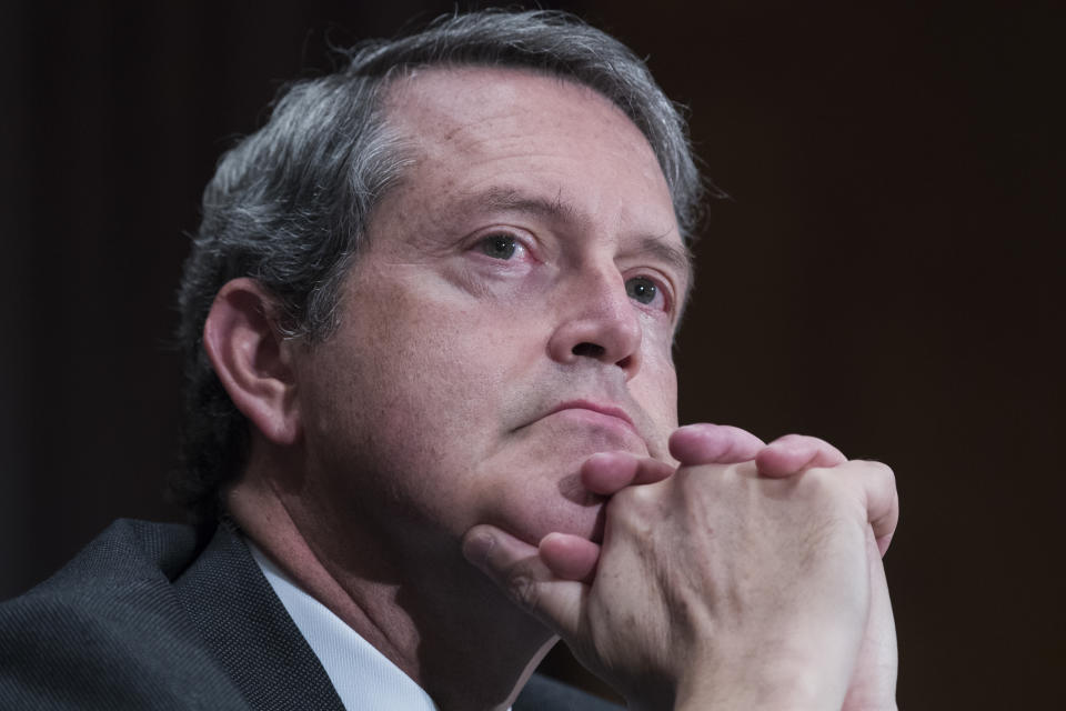 UNITED STATES - OCTOBER 2: Randal K. Quarles, a member of the Board of Governors of the Federal Reserve System, testifies during a Senate Banking Committee hearing in Dirksen Building titled