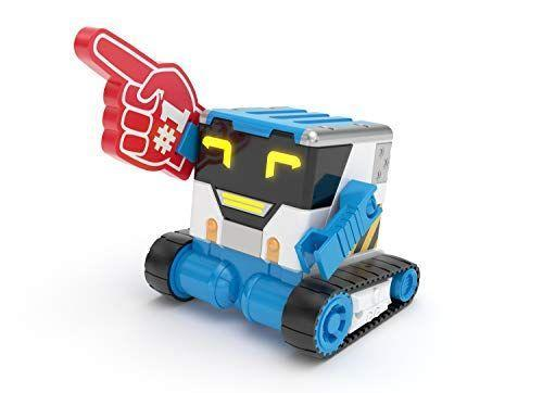 """<p><strong>Really R.A.D. Robots</strong></p><p>amazon.com</p><p><strong>$50.13</strong></p><p><a href=""""https://www.amazon.com/dp/B079QB3DJY?tag=syn-yahoo-20&ascsubtag=%5Bartid%7C10055.g.203%5Bsrc%7Cyahoo-us"""" rel=""""nofollow noopener"""" target=""""_blank"""" data-ylk=""""slk:Shop Now"""" class=""""link rapid-noclick-resp"""">Shop Now</a></p><p>This robot has some pretty cool tricks up its sleeve: You can use it to tell jokes, spy on family members, send messages or prank people with sound effects. You can use his tray and remote control to get him to carry things for you, too. <em>Ages 5+</em></p>"""