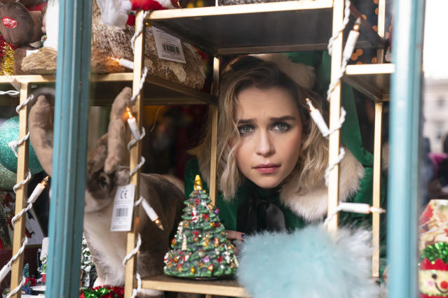Kate (Emilia Clarke) in the romantic comedy Last Christmas, directed by Paul Feig.