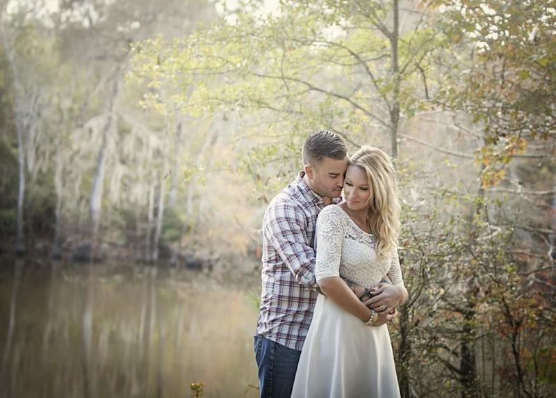 The couple knew each other growing up in Chatham, Ontario, Canada. Parry moved to Texas to become a firefighter, but the pair reconnected when he was in town visiting family last year. (Courtesy of the couple)