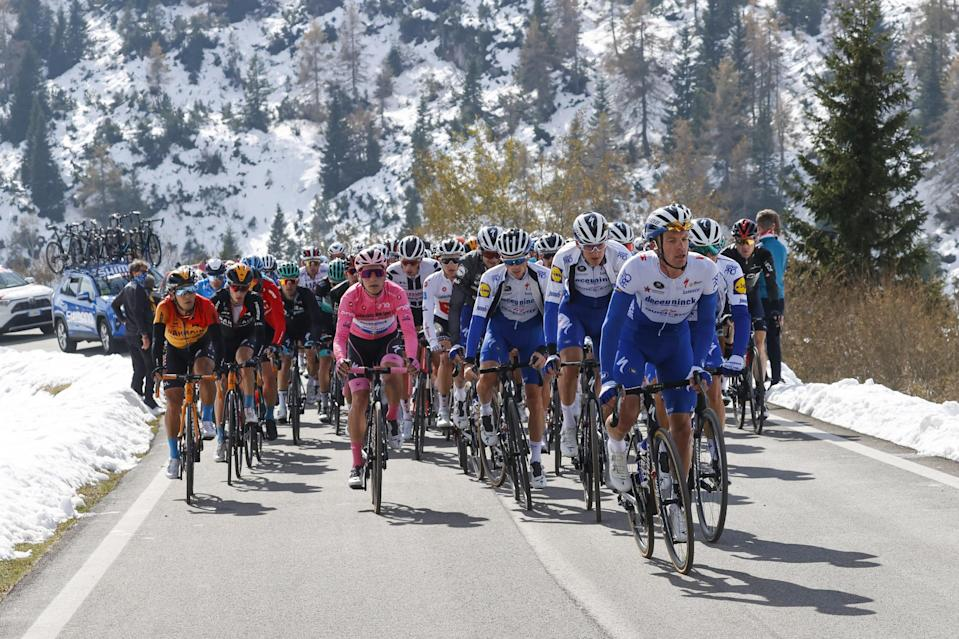 Giro dItalia 2020  103th Edition  17th stage Bassano del Grappa  Madonna di Campiglio 203km  21102020  Joao Almeida POR  Deceuninck  Quick Step  photo Luca BettiniBettiniPhoto2020