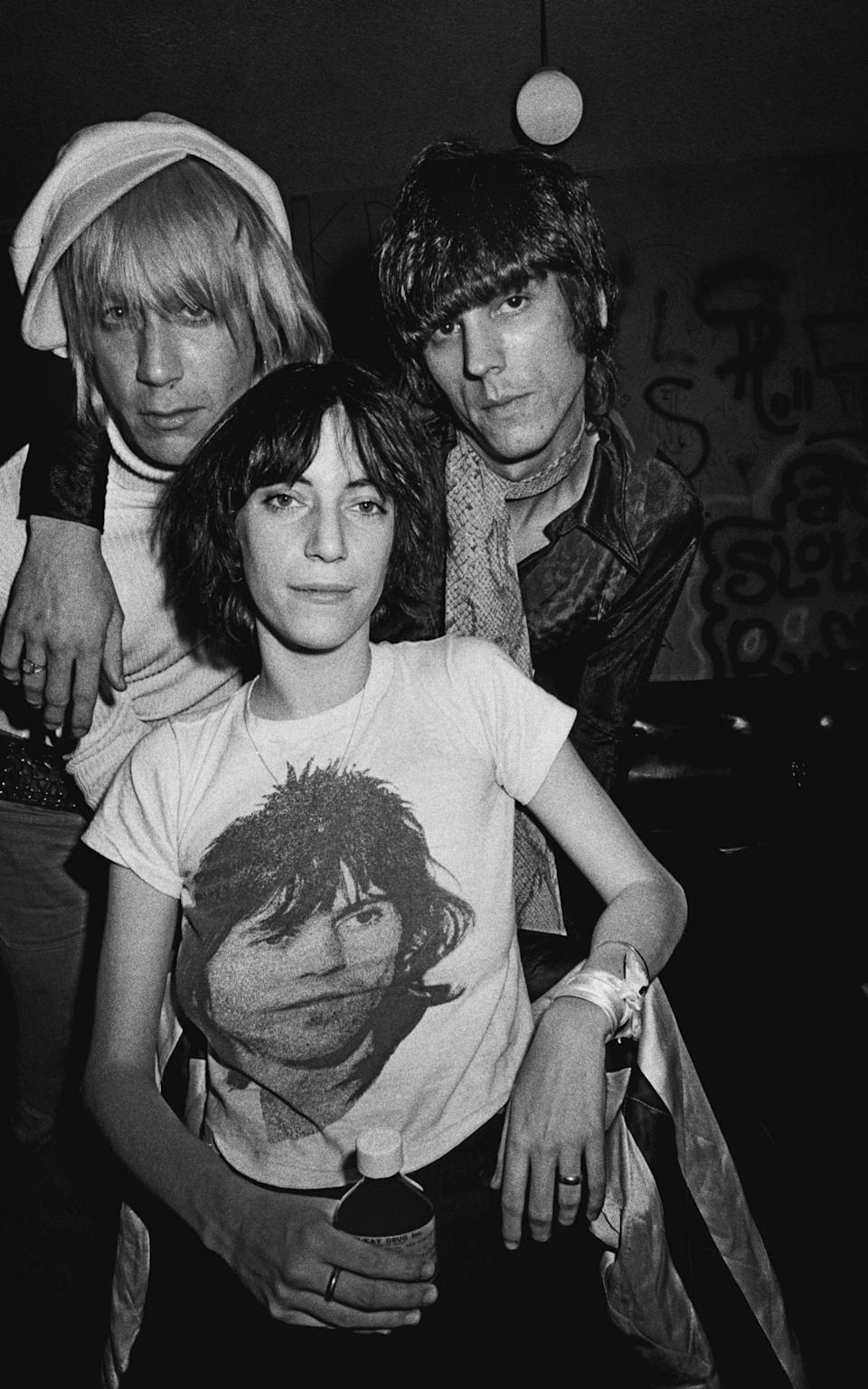 Force of nature: Smith with Iggy Pop and James Williamson of the Stooges in 1974 - Michael Ochs archives