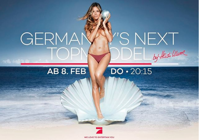 The model is the face of Germany's Next Top Model. Photo: Instagram/Heidi Klum