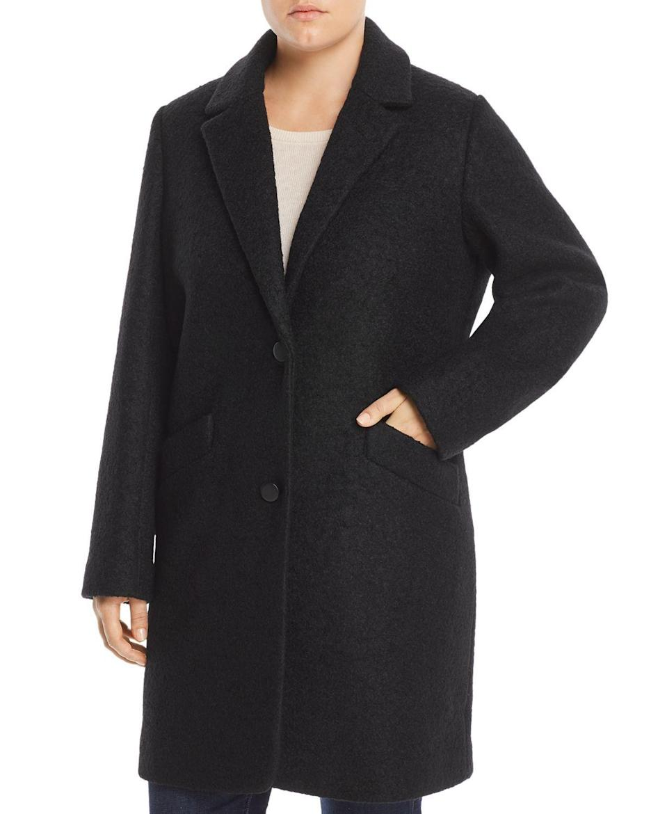 """<p><strong>Marc New York Plus</strong></p><p>bloomingdales.com</p><p><strong>$234.50</strong></p><p><a href=""""https://go.redirectingat.com?id=74968X1596630&url=https%3A%2F%2Fwww.bloomingdales.com%2Fshop%2Fproduct%2Fmarc-new-york-performance-plus-paige-boucle-coat%3FID%3D3094370&sref=https%3A%2F%2Fwww.oprahmag.com%2Fstyle%2Fg33266496%2Fplus-size-coats%2F"""" rel=""""nofollow noopener"""" target=""""_blank"""" data-ylk=""""slk:SHOP NOW"""" class=""""link rapid-noclick-resp"""">SHOP NOW</a></p><p>If you want something that seems right at the intersection of simple and stylish, this Marc New York wool bouclé coat is a good choice. Not only does the black shade ensure it will go with absolutely everything this fall, but you can also wear it open or buttoned-up.</p>"""