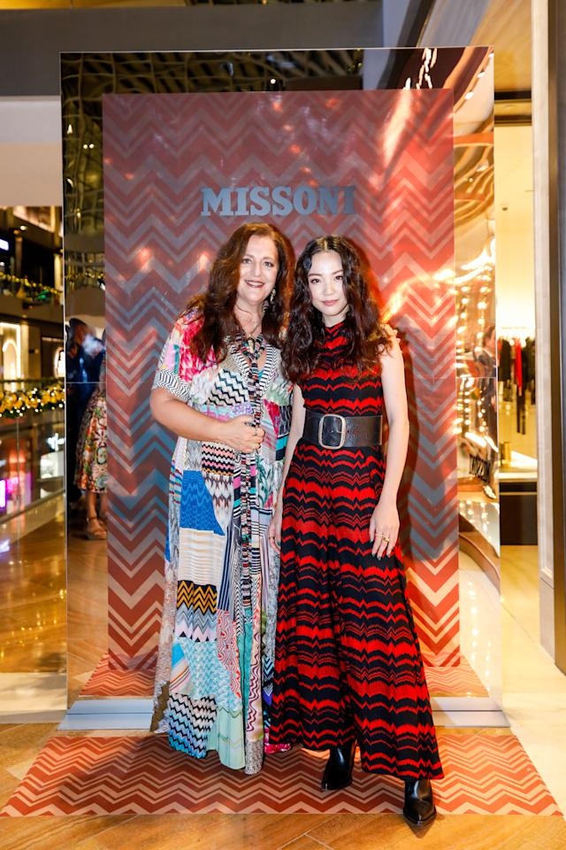 Creative Director and President of Missoni, Angela Missoni and Yoyo Cao.