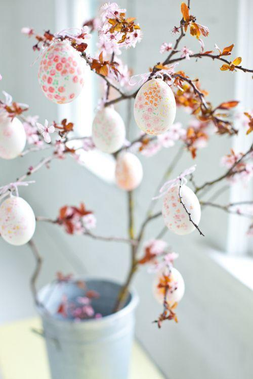 """<p>If you're a fan of the gorgeous cherry blossoms that bloom in spring, you'll love this craft idea. It involves decorating your eggs as though they're blooming too, then hanging them from branches.</p><p><strong>Get the tutorial at <a href=""""https://www.decor8blog.com/blog/2012/03/30/color-me-pretty-easter-ideas"""" rel=""""nofollow noopener"""" target=""""_blank"""" data-ylk=""""slk:Decor 8"""" class=""""link rapid-noclick-resp"""">Decor 8</a>.</strong></p><p><a class=""""link rapid-noclick-resp"""" href=""""https://www.amazon.com/Rubber-Stampede-Cherry-Blossom/dp/B0019IG79K?tag=syn-yahoo-20&ascsubtag=%5Bartid%7C10050.g.26498744%5Bsrc%7Cyahoo-us"""" rel=""""nofollow noopener"""" target=""""_blank"""" data-ylk=""""slk:SHOP CHERRY BLOSSOM STAMPS"""">SHOP CHERRY BLOSSOM STAMPS</a> </p>"""