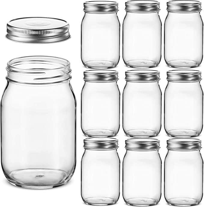 <p>You can never go wrong with <span>10 Glass Regular Mouth Mason Jars, 16 Ounce</span> ($33) since everyone needs storage.</p>