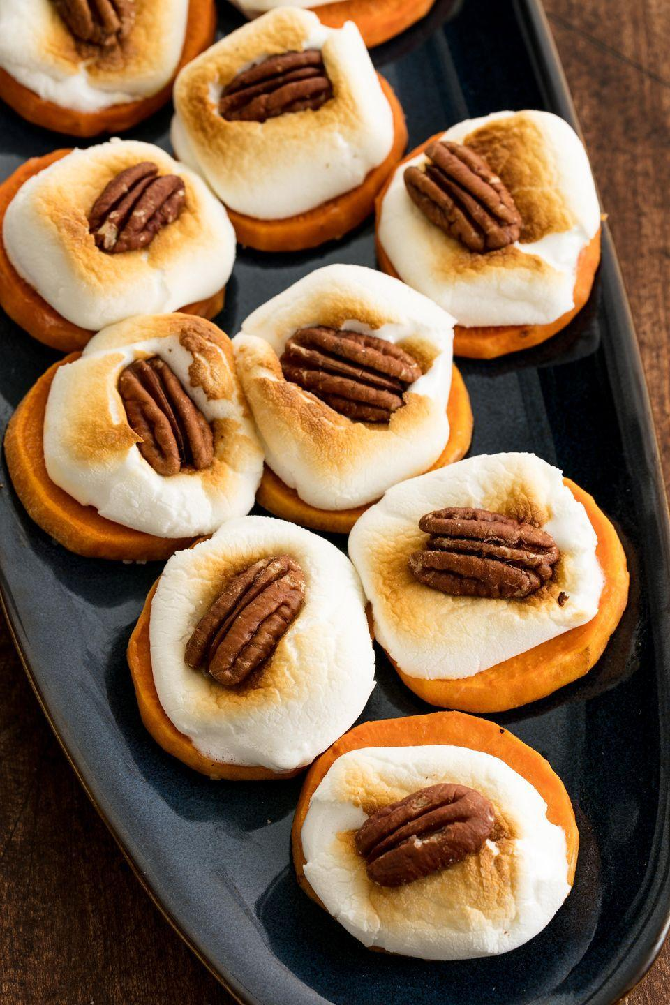 "<p>Turn the classic casserole into a mini dessert!</p><p>Get the recipe from <a href=""https://www.delish.com/cooking/recipe-ideas/recipes/a50000/sweet-potato-bites-recipe/"" rel=""nofollow noopener"" target=""_blank"" data-ylk=""slk:Delish"" class=""link rapid-noclick-resp"">Delish</a>. </p>"