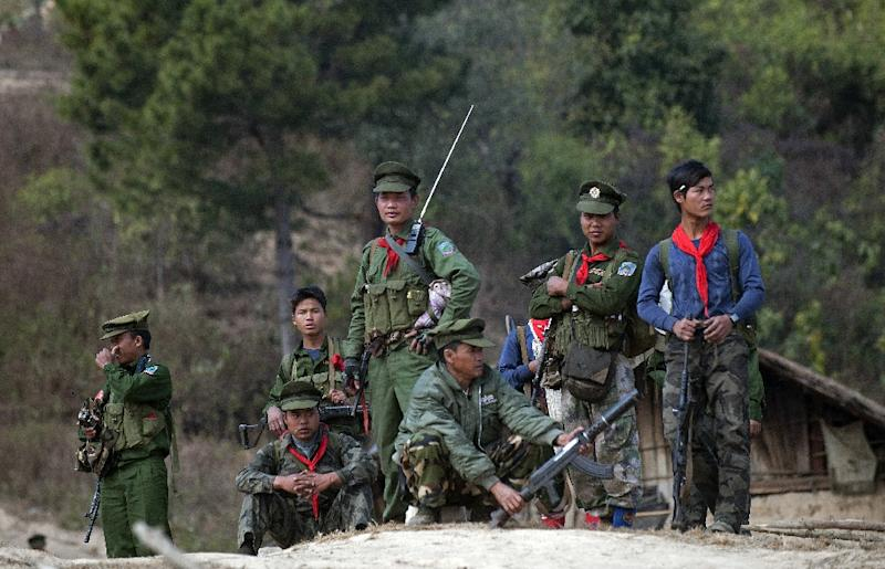 The Ta'ang National Liberation Army is one of several insurgent groups fighting for more autonomy in northern Myanmar (AFP Photo/YE AUNG THU)